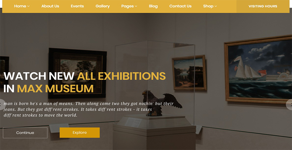 History and Archeology WordPress Theme