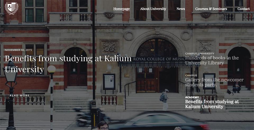 Kalium - Creative WordPress Theme