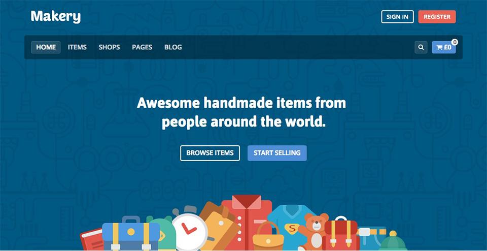 Makery - Marketplace WordPress Theme