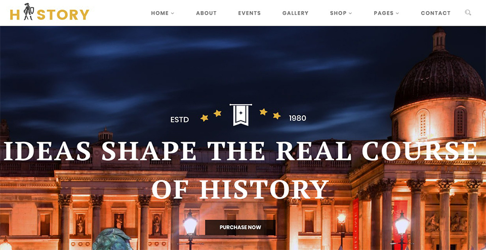Museum & Exhibition WordPress Theme
