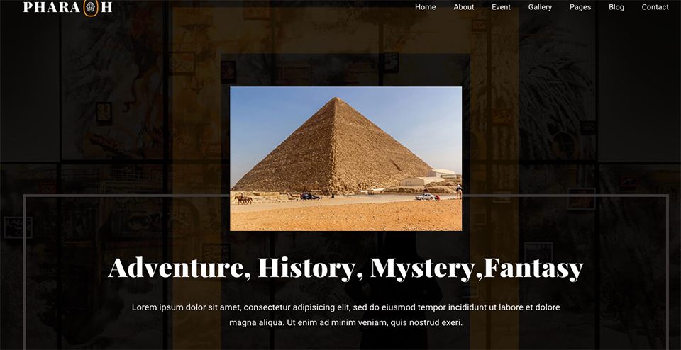 Pharaoh Museum & Exhibition HTML Template