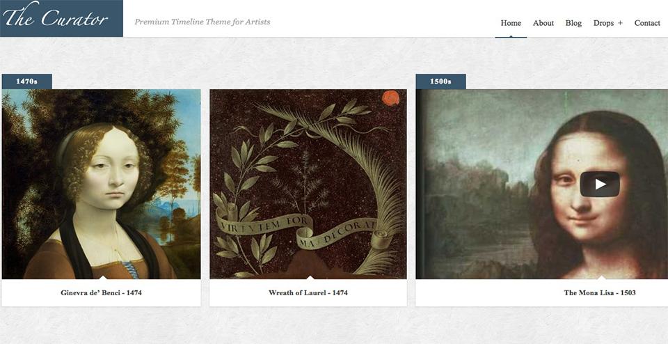 Premier WP Timeline Theme for Artists