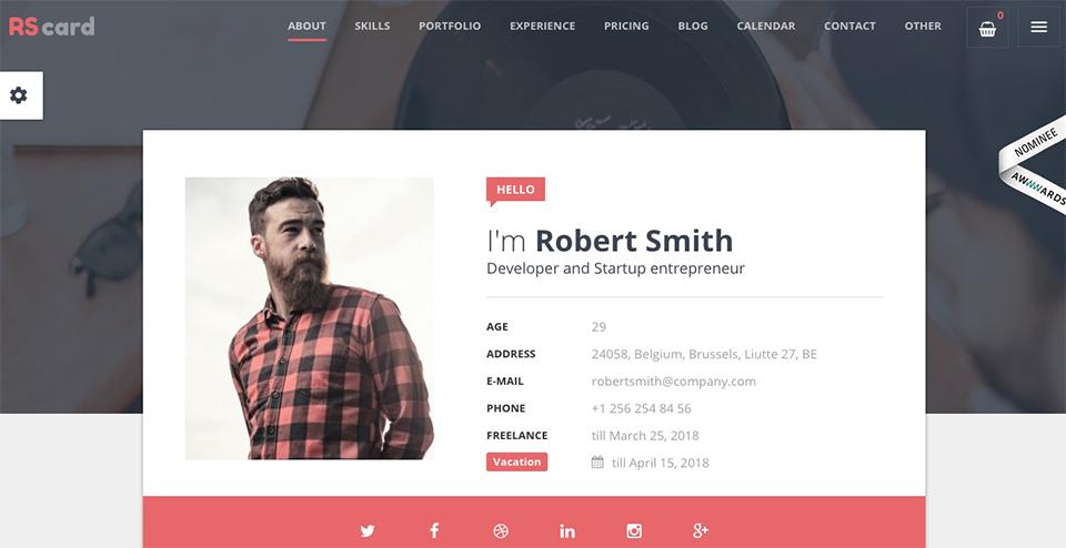 RScard - WordPress Theme