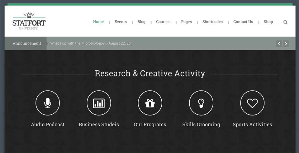 Statfort - Educational WordPress Theme