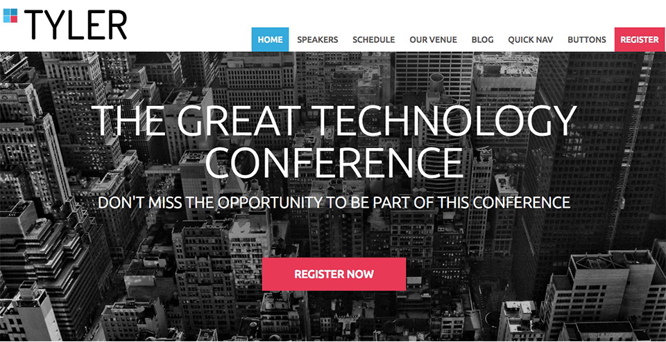 Tyler WordPress Conference and Event Theme