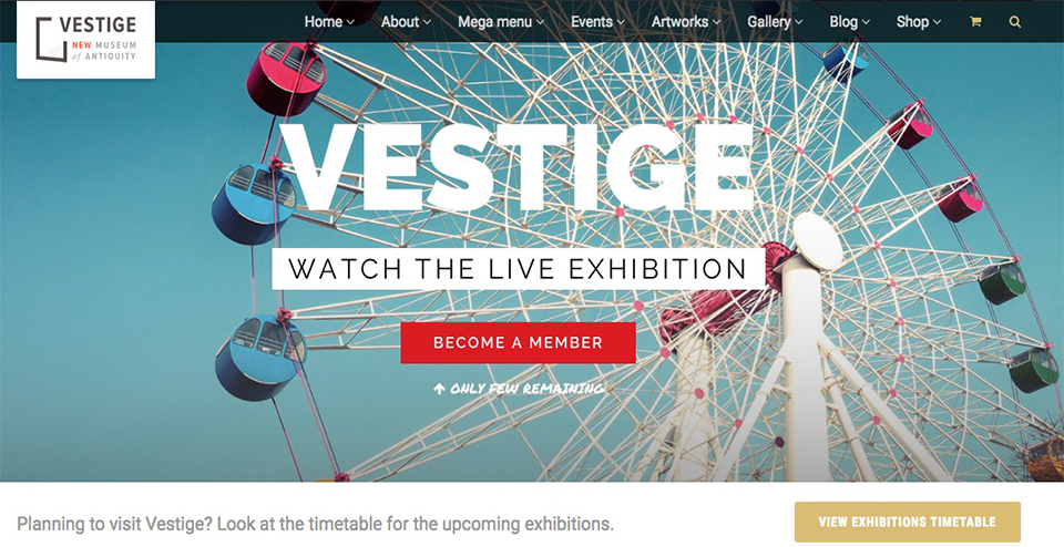 Vestige Museum WordPress Theme
