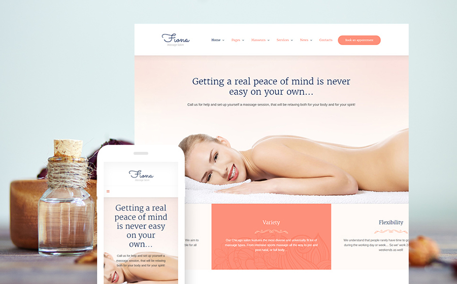 Massage Salon Responsive WordPress Theme