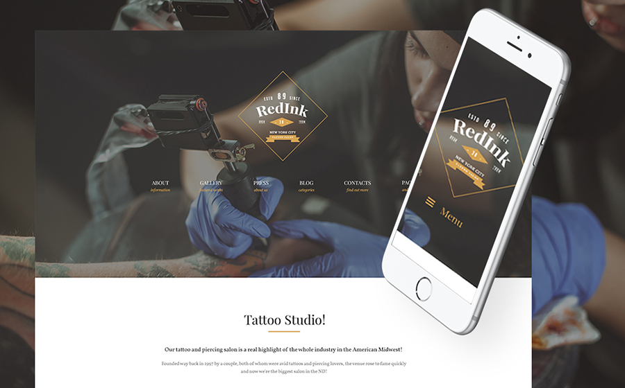 Tattoo WP Theme