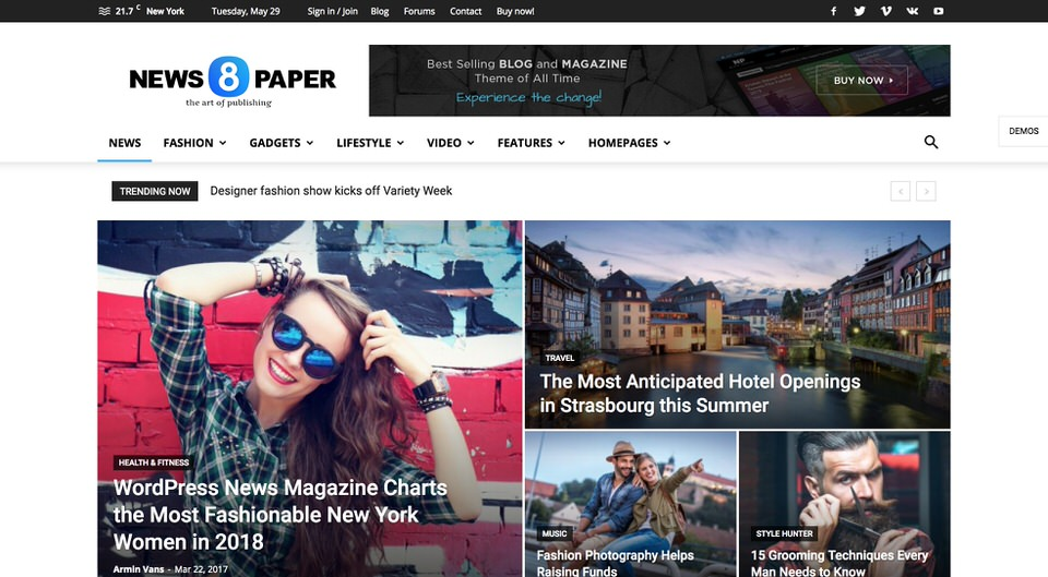 11 Best Wordpress Themes For Newspapers 2019 Egrappler