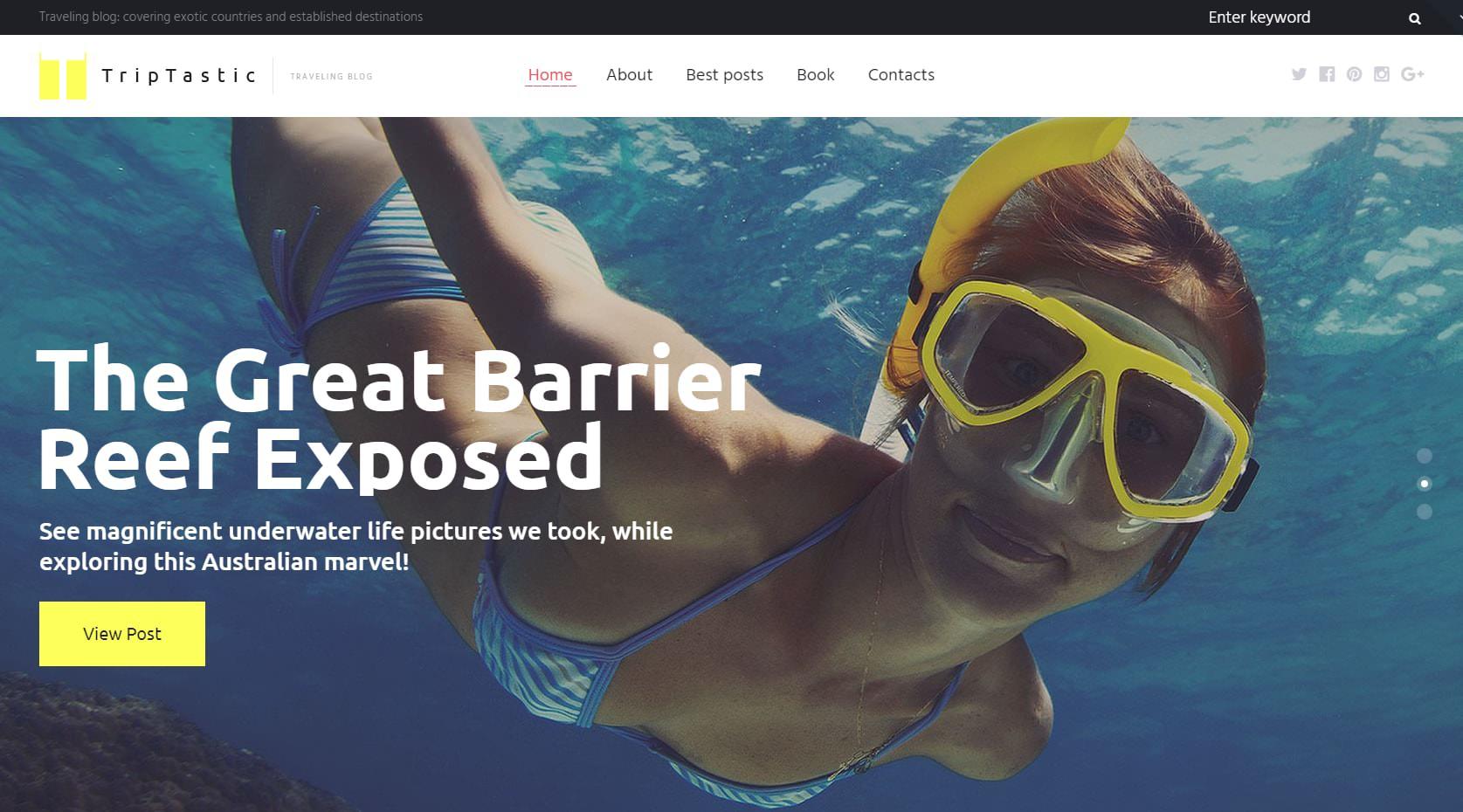 Travel Blogging Theme
