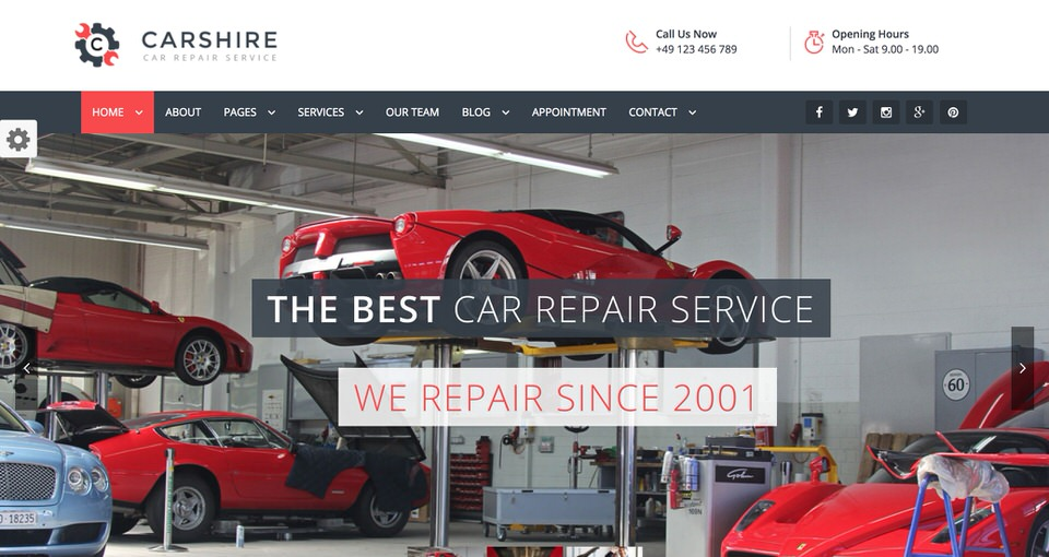 10 Best Wordpress Themes For Automotive Repair And Car Service 2019 Egrappler