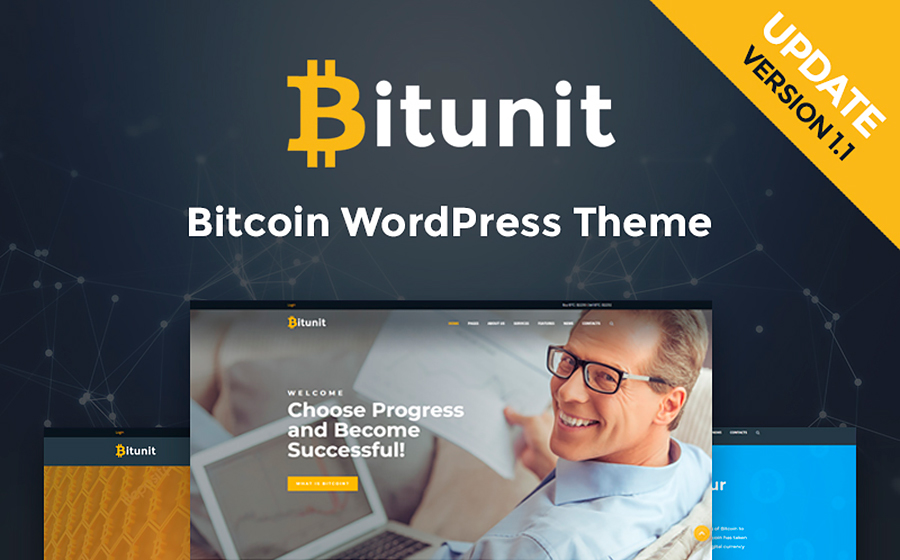Bitunit - Bitcoin Cryptocurrency WordPress Theme