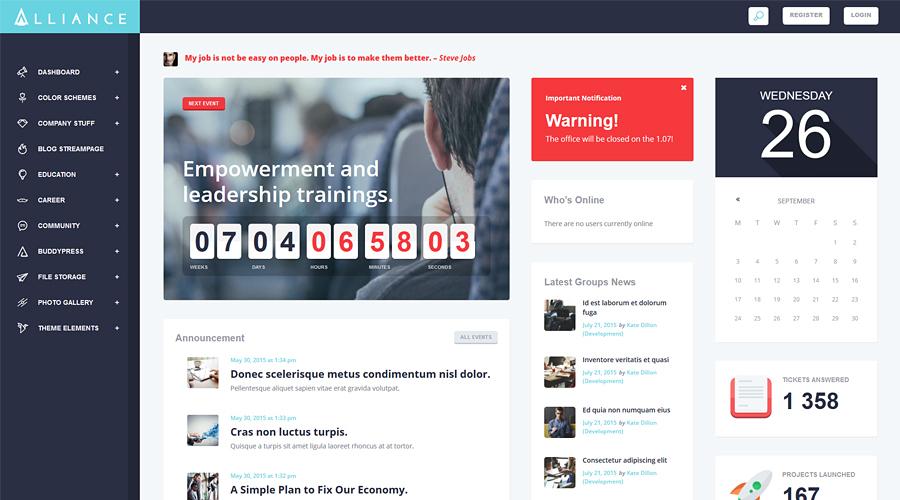 Alliance | Intranet & Extranet WordPress Theme