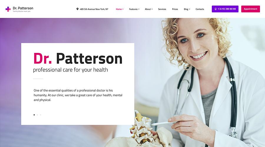 Dr.Patterson | Medicine & Healthcare WordPress Theme