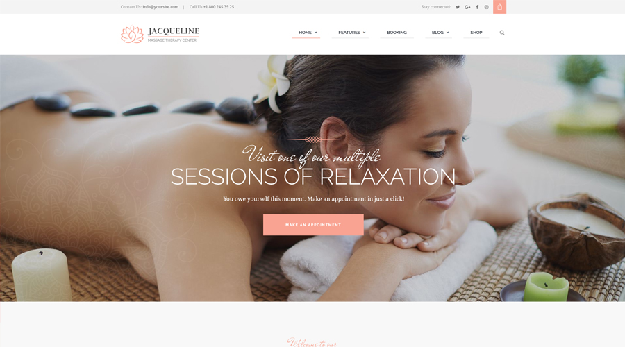 Jacqueline | Spa & Massage Salon WordPress Theme
