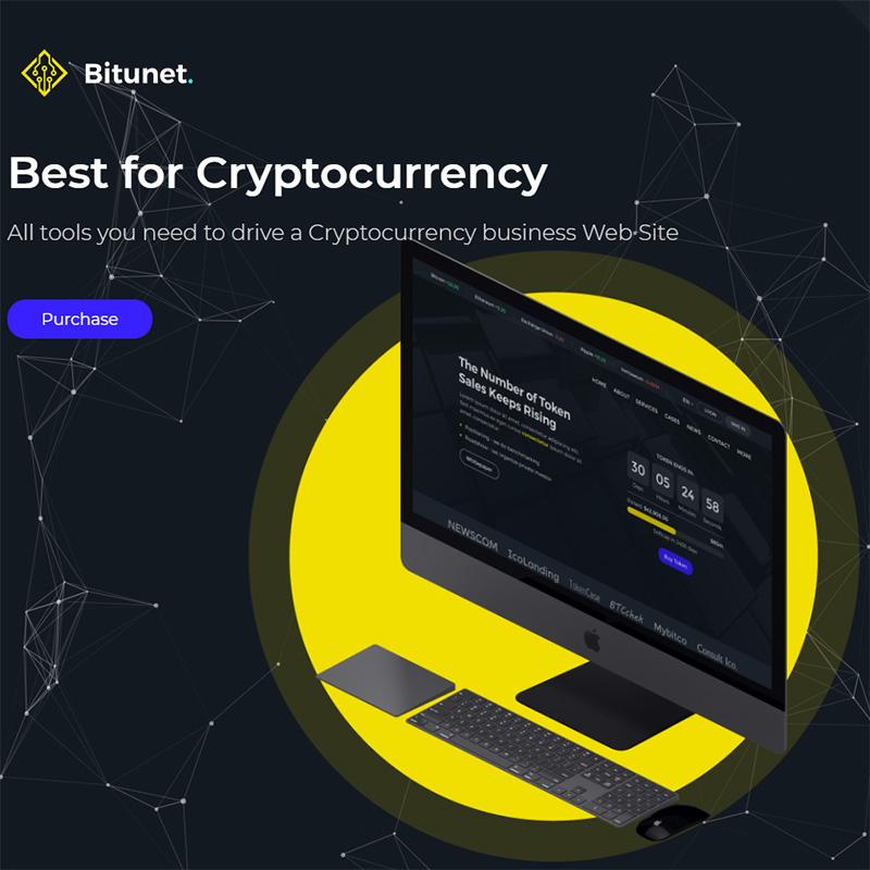 Bitunet - Cryptocurrency Elementor WordPress Theme