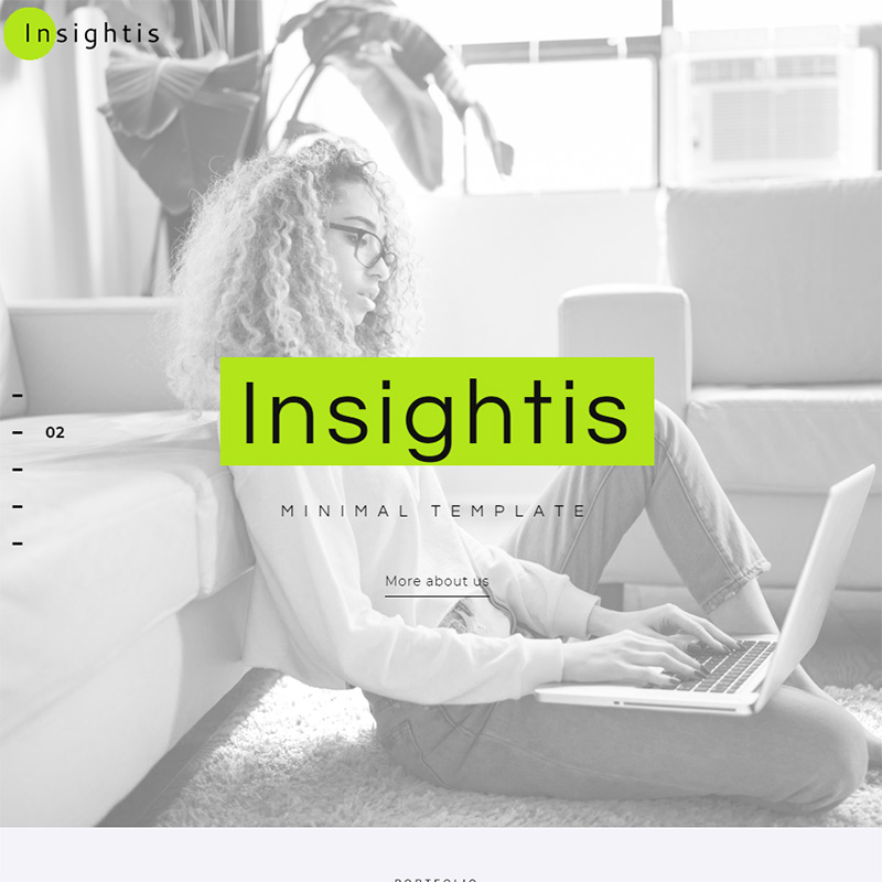 Insightis - Creative Minimal Elementor WordPress Theme