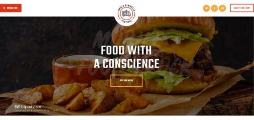 Meals & Wheels Street Food Festival WordPress theme