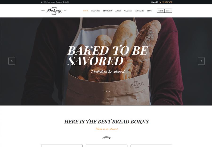 Bakery, Cafe & Pastry Shop WordPress Theme