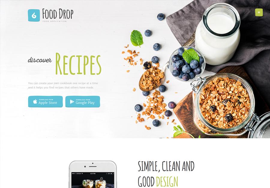 Food Drop | Food Ordering & Delivery Mobile App WordPress Theme