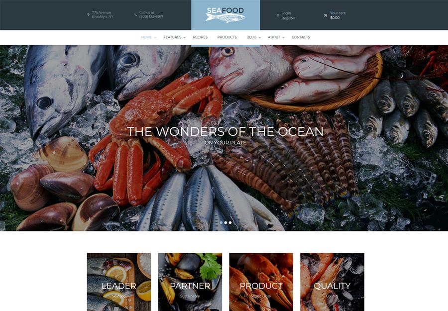 Seafood Company & Restaurant WordPress Theme