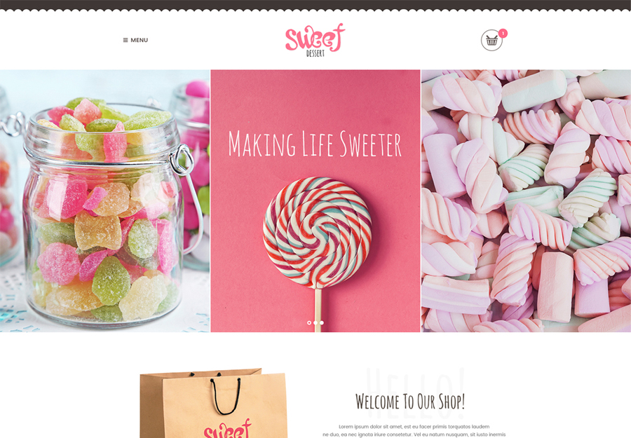 Sweet Dessert | Sweet Shop & Cafe WordPress Theme