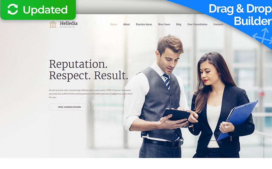 Law Firm Services Moto CMS 3 Template
