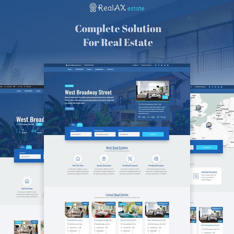 RealAX - Premium Real Estate Agency WordPress Theme