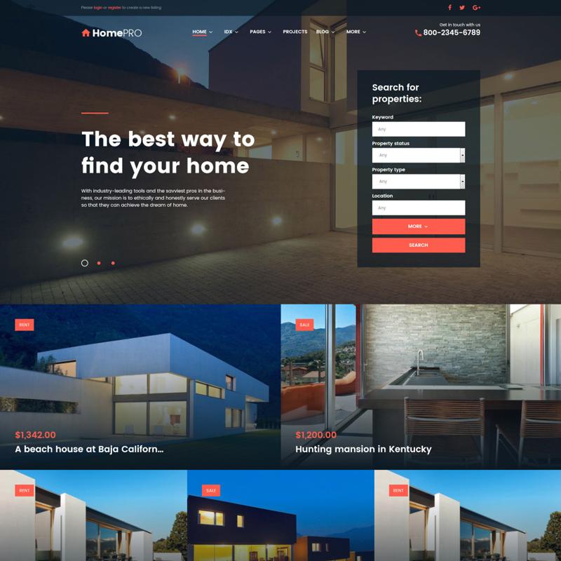 Real Estate Broker WordPress Theme