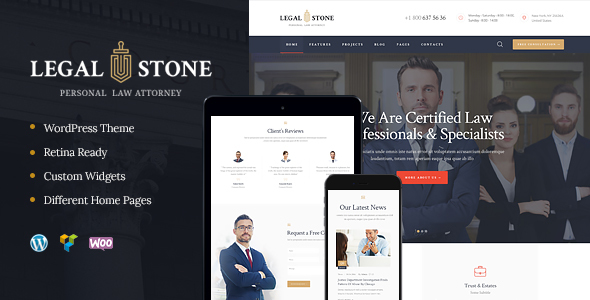Legal Stone | Lawyers & Attorneys WordPress Theme