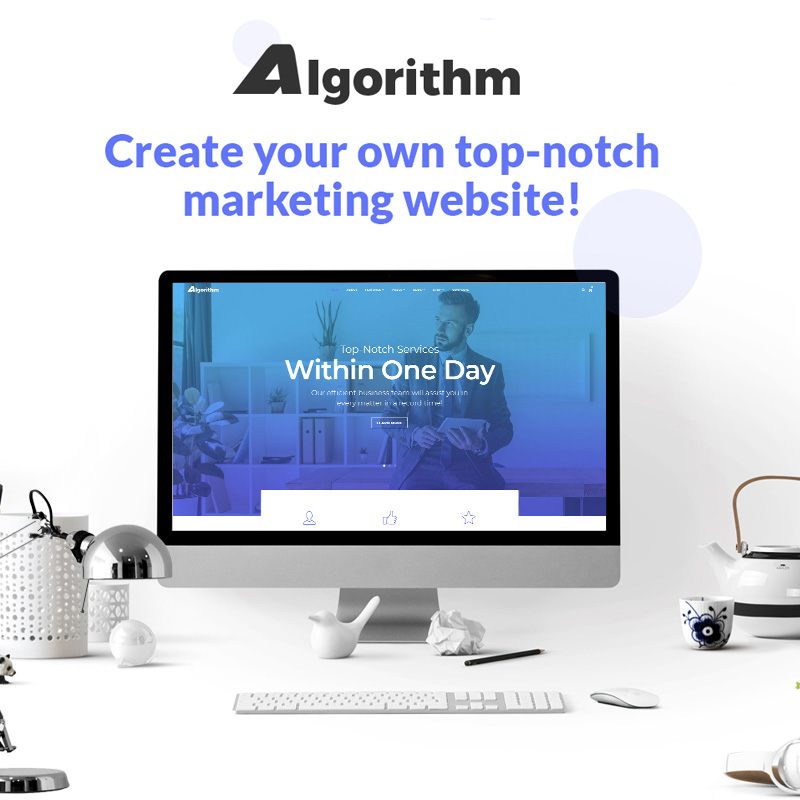 Algorithm - Business Marketing Elementor WordPress Theme
