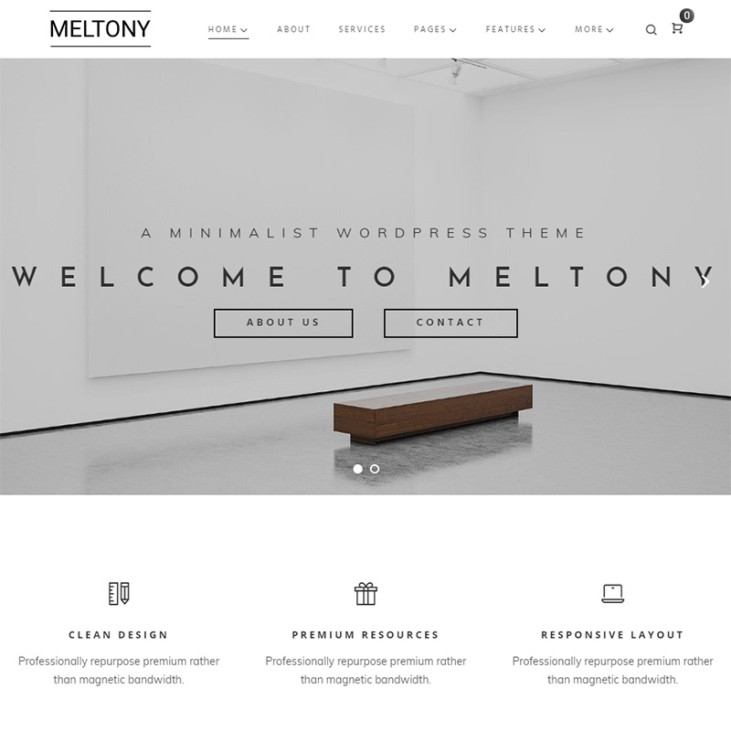 Meltony Minimal Multipurpose Elementor WordPress Theme