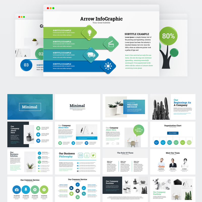 Business Infographic Presentation Keynote Template