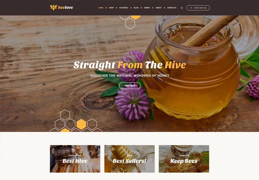 Beelove   Honey Production and Online Store WordPress Theme