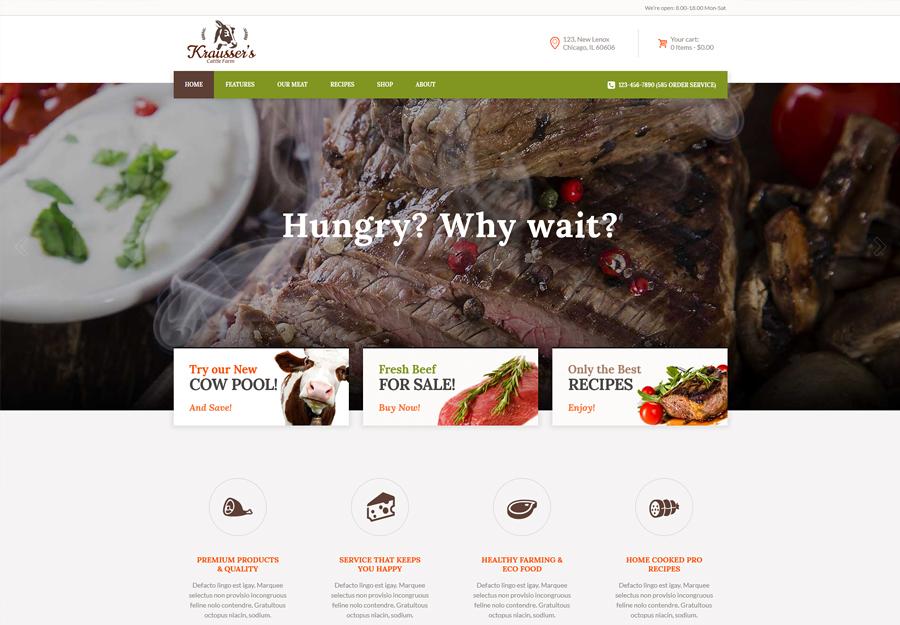 Krausser's   Cattle Farm & Produce Market WordPress Theme