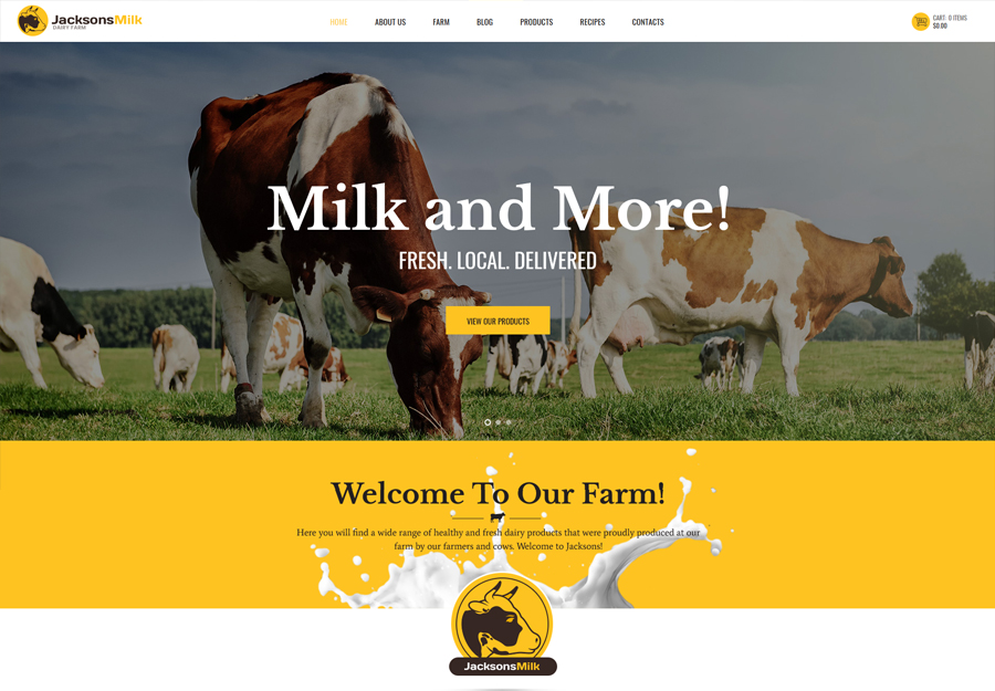 Dairy Farm & Eco Products WordPress Theme