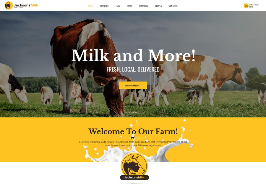 Dairy Farm & Eco Products WordPress Theme