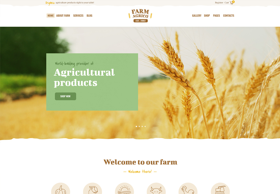 Farm Agrico   Agricultural Business WordPress Theme