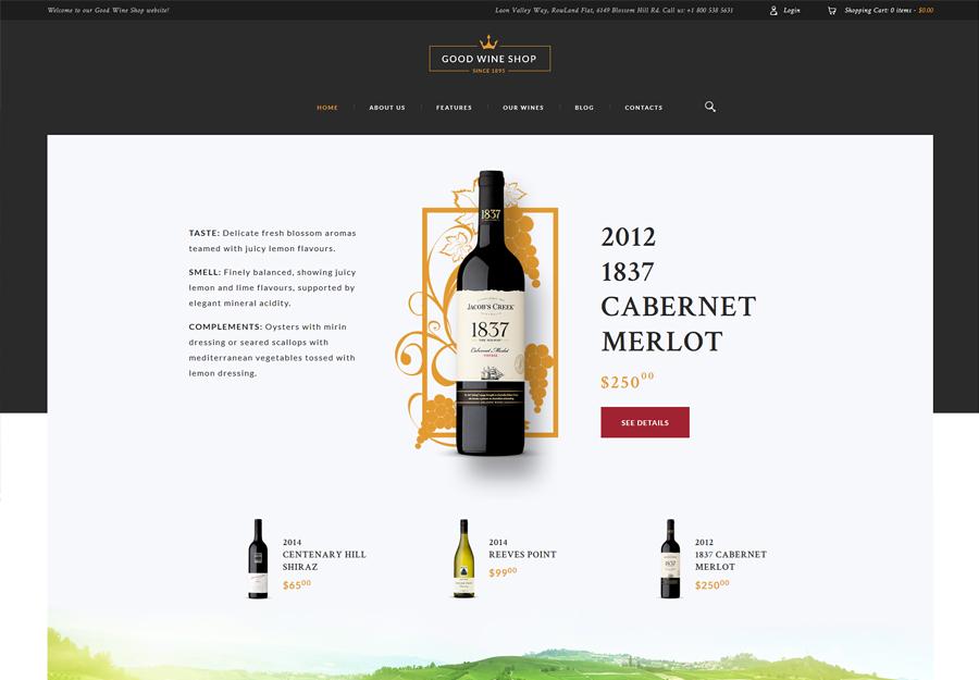 Good Wine   Wine House, Winery & Wine Shop WordPress Theme