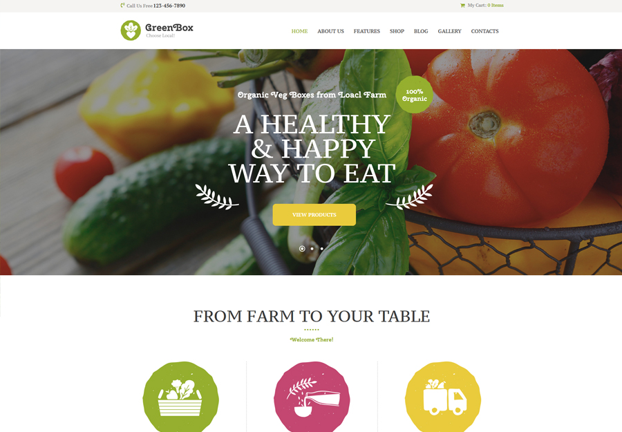 Green Box   Eco Farm & Organic Products Store WordPress Theme