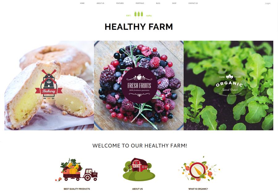 Healthy Farm   Food & Agriculture WordPress Theme