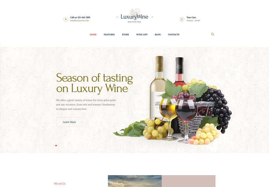 Luxury Wine   Wine House, Winery & Wine Shop WordPress Theme
