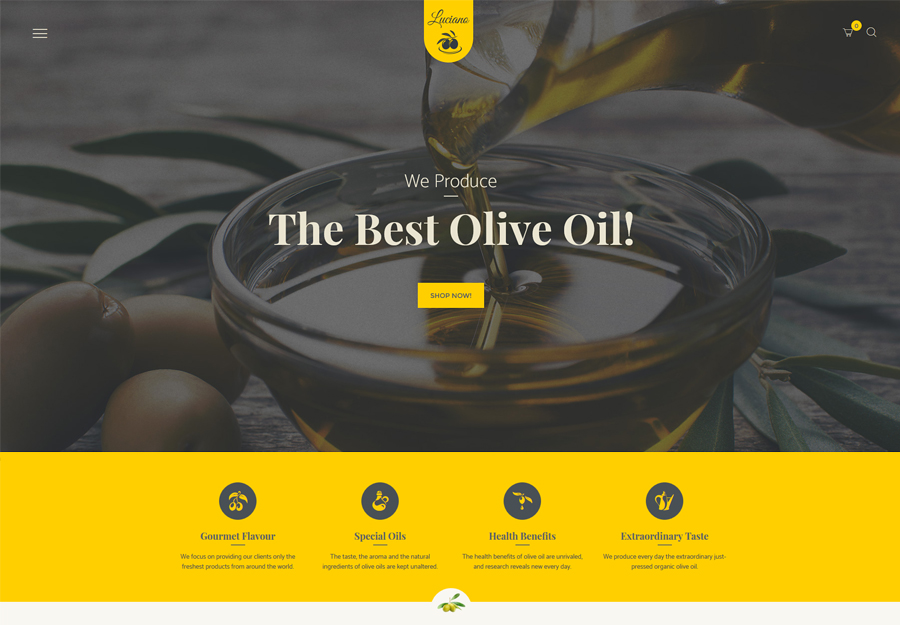 Olive Oil and Vinegars Production WordPress Theme