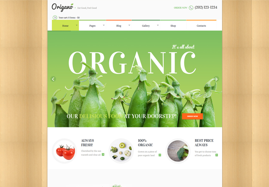 Origano - Organic Food & Eco Farm WordPress Theme