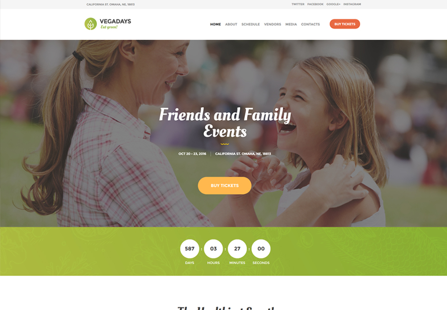 Vegadays WordPress theme