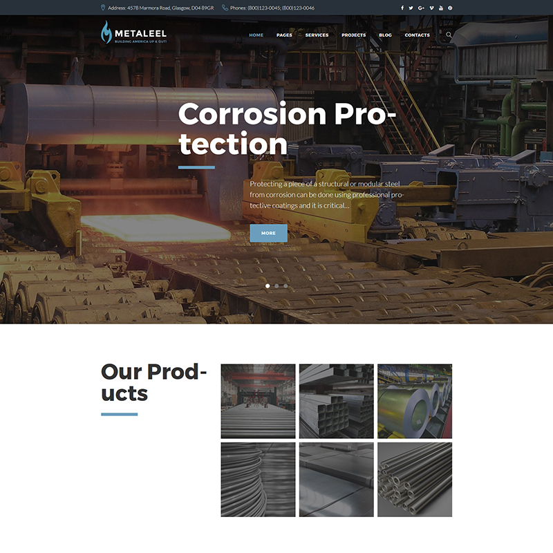 Industrial Engineering WordPress Template