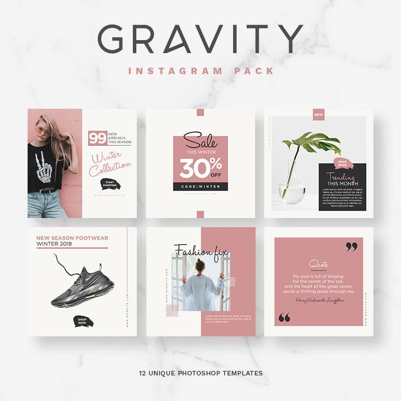 Gravity Instagram Pack Social Media
