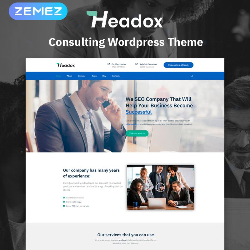 Headox - Consulting Services Multipurpose Elementor WordPress Theme