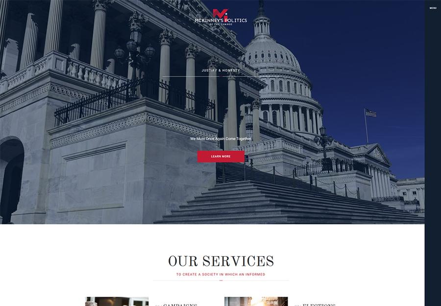 MCKinney's Politics   Elections Campaign & Political WordPress Theme
