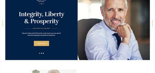 Jack Well Political WordPress Theme
